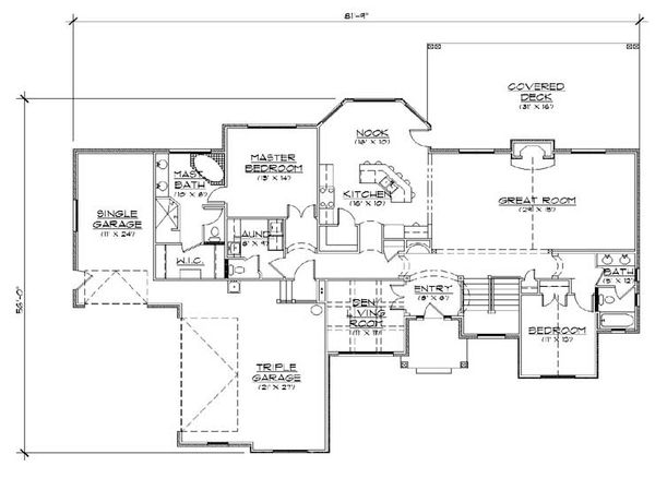 European Floor Plan - Main Floor Plan Plan #5-248