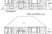 Traditional Style House Plan - 2 Beds 2 Baths 1265 Sq/Ft Plan #58-126 Exterior - Rear Elevation