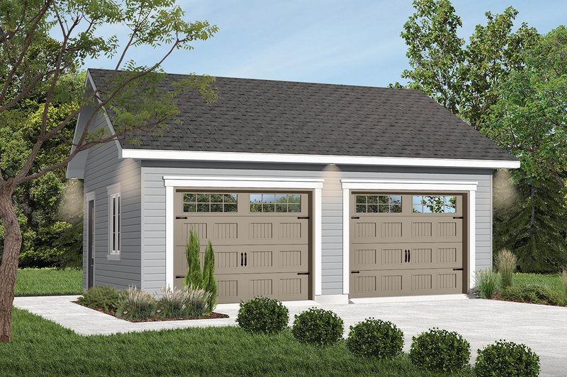 Craftsman Style House Plan - 0 Beds 0 Baths 576 Sq/Ft Plan #23-772 Exterior - Front Elevation