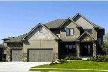 Dream House Plan - Craftsman Exterior - Front Elevation Plan #20-2127