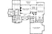 European Style House Plan - 5 Beds 4.5 Baths 4227 Sq/Ft Plan #453-35 Floor Plan - Main Floor