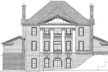 European Exterior - Rear Elevation Plan #119-146