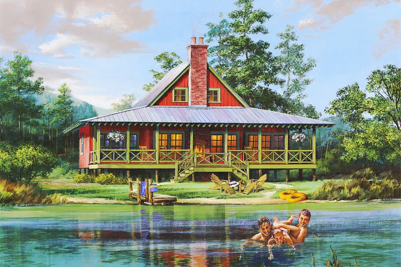 Home Plan - Cabin Exterior - Front Elevation Plan #137-295