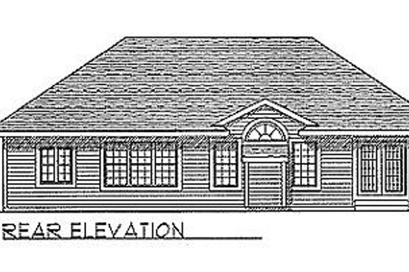 Traditional Exterior - Rear Elevation Plan #70-269 - Houseplans.com