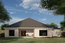 House Design - Traditional Exterior - Rear Elevation Plan #923-182