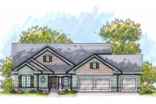 Home Plan - Bungalow Exterior - Front Elevation Plan #70-977