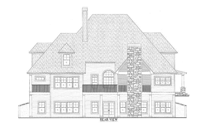 Traditional Exterior - Rear Elevation Plan #437-56 - Houseplans.com