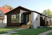 Modern Style House Plan - 2 Beds 2 Baths 1441 Sq/Ft Plan #909-6 Exterior - Other Elevation
