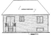 European Style House Plan - 2 Beds 1 Baths 1065 Sq/Ft Plan #23-159 Exterior - Rear Elevation