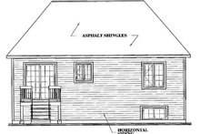 European Exterior - Rear Elevation Plan #23-159