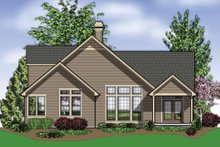 Architectural House Design - Rear View - 2100 square foot Craftsman home