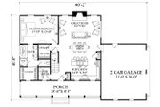 Country Style House Plan - 3 Beds 2.5 Baths 1824 Sq/Ft Plan #137-294 Floor Plan - Main Floor