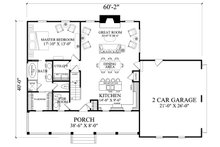 Country Floor Plan - Main Floor Plan Plan #137-294