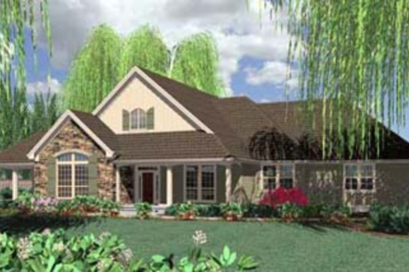 Traditional Exterior - Front Elevation Plan #48-234 - Houseplans.com