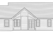 Country Style House Plan - 3 Beds 2 Baths 1577 Sq/Ft Plan #46-892 Exterior - Rear Elevation