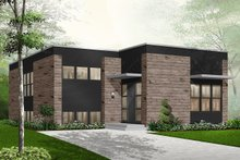 Home Plan - Modern Exterior - Front Elevation Plan #23-2225