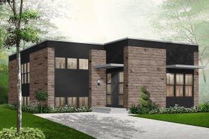 House Blueprint - Modern Exterior - Front Elevation Plan #23-2225