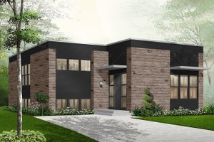 Architectural House Design - Modern Exterior - Front Elevation Plan #23-2225