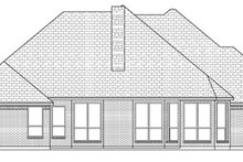 Home Plan - Traditional Exterior - Rear Elevation Plan #84-501