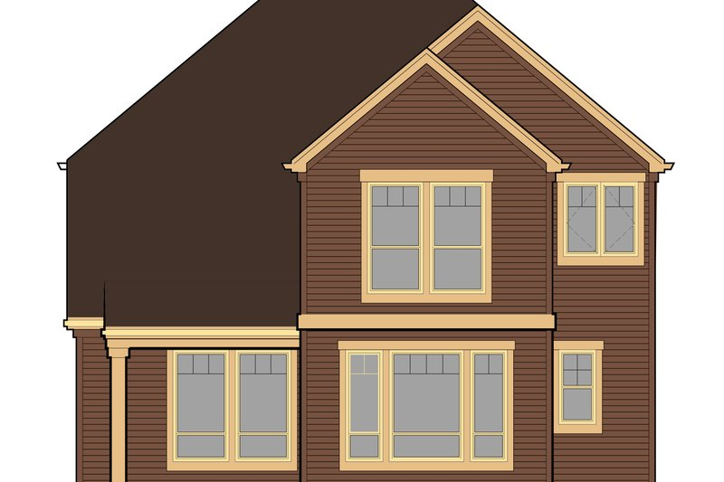 Country Exterior - Rear Elevation Plan #48-630 - Houseplans.com