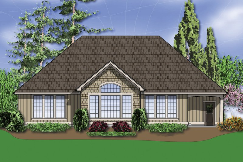 Craftsman Exterior - Rear Elevation Plan #48-103 - Houseplans.com