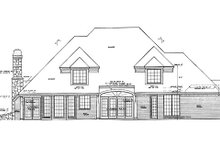 Home Plan - Traditional Exterior - Rear Elevation Plan #310-905