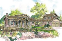 Dream House Plan - Prairie Exterior - Front Elevation Plan #124-553