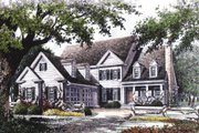 Colonial Style House Plan - 4 Beds 3.5 Baths 2898 Sq/Ft Plan #429-15 Exterior - Other Elevation