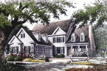 House Plan Design - Colonial Exterior - Other Elevation Plan #429-15