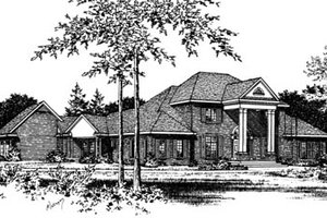 Classical Exterior - Front Elevation Plan #15-225