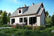 Cottage Style House Plan - 3 Beds 2 Baths 1587 Sq/Ft Plan #23-2313 Exterior - Rear Elevation