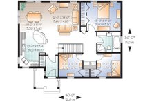 Main Floor Plan  - 1200 square foot cottage home