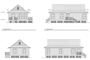 Cottage Style House Plan - 3 Beds 2 Baths 1025 Sq/Ft Plan #536-3 Exterior - Rear Elevation