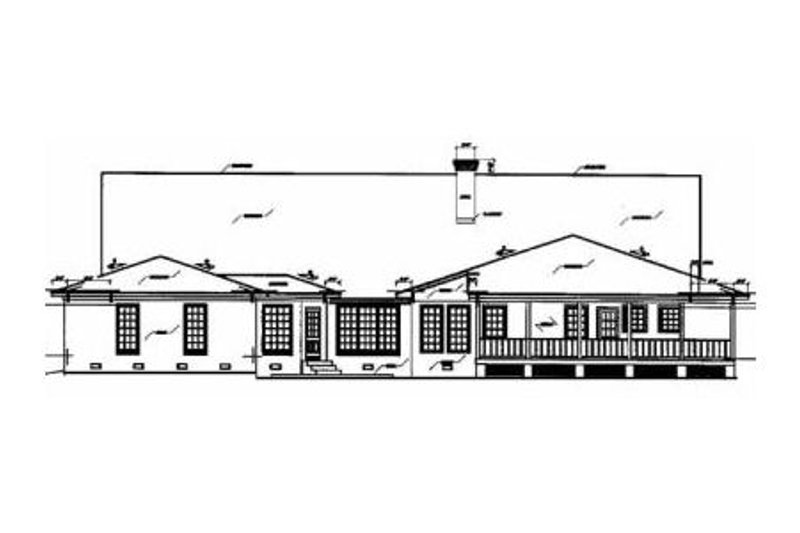Traditional Exterior - Rear Elevation Plan #36-234 - Houseplans.com