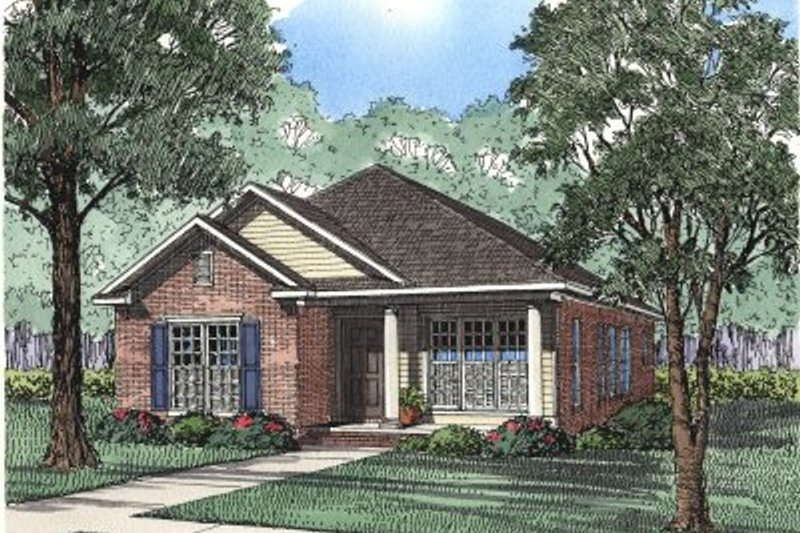 Architectural House Design - Traditional Exterior - Front Elevation Plan #17-1072