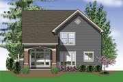 Traditional Style House Plan - 3 Beds 2.5 Baths 1500 Sq/Ft Plan #48-113 Exterior - Rear Elevation