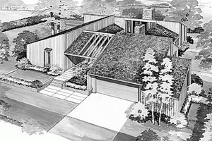 Contemporary Exterior - Front Elevation Plan #72-346
