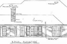 House Design - Traditional Exterior - Rear Elevation Plan #14-107