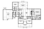 Ranch Style House Plan - 3 Beds 3 Baths 3100 Sq/Ft Plan #1058-173 Floor Plan - Main Floor Plan