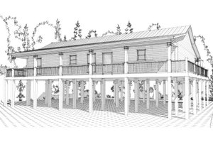 Beach Exterior - Front Elevation Plan #63-364