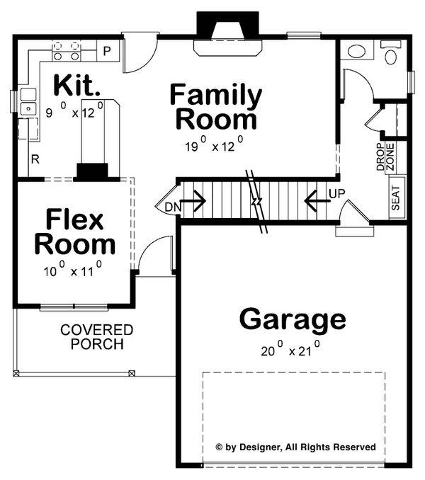 Country Floor Plan - Main Floor Plan Plan #20-2258