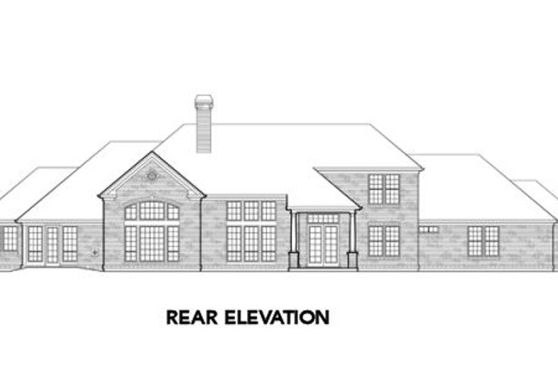 Southern Exterior - Rear Elevation Plan #48-352 - Houseplans.com