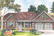 Traditional Style House Plan - 3 Beds 3 Baths 2712 Sq/Ft Plan #124-344 Exterior - Front Elevation