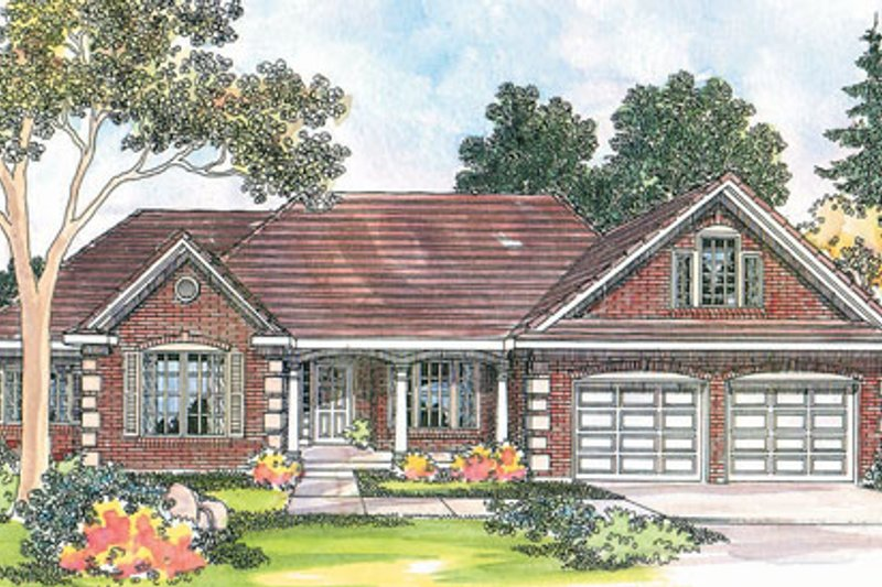 Traditional Exterior - Front Elevation Plan #124-344 - Houseplans.com