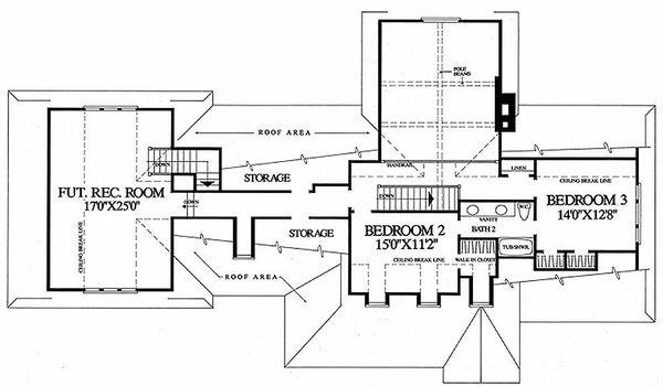 Country Floor Plan - Upper Floor Plan Plan #137-131