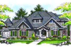 Architectural House Design - European Exterior - Front Elevation Plan #70-720
