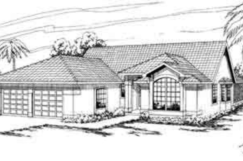 Mediterranean Exterior - Front Elevation Plan #124-227