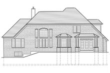 European Exterior - Rear Elevation Plan #46-137