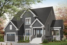 Home Plan - Traditional Exterior - Front Elevation Plan #23-2285