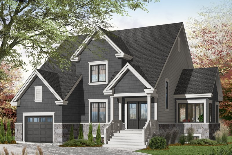 Dream House Plan - Traditional Exterior - Front Elevation Plan #23-2285